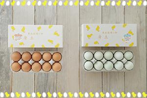 東北牧場の卵「青玉・赤玉」各10個セット